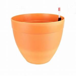 Pot À Réserve D Eau : pot d cor tania r serve d 39 eau 28 cm orange ~ Louise-bijoux.com Idées de Décoration