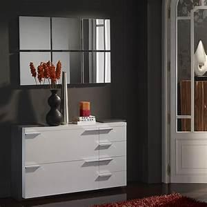 Meuble Entree Blanc : meuble d entree moderne elouan zd1 meu dentr ~ Teatrodelosmanantiales.com Idées de Décoration