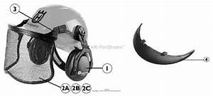 Husqvarna 505675315 Pro Forest Woodsman Helmet System