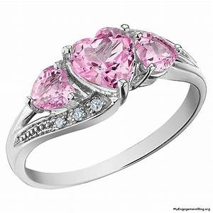 Real Pink Diamond Rings Wedding Promise Diamond