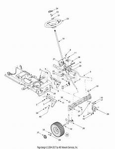 Mtd 14ai808h718  2004  Parts Diagram For Axle Front  U0026 Steering
