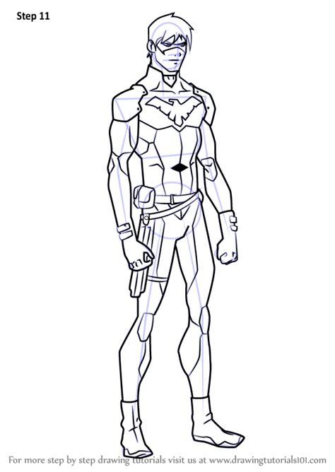 learn   draw nightwing  young justice young