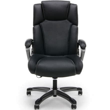 essentials by ofm heated shiatsu leather office chair