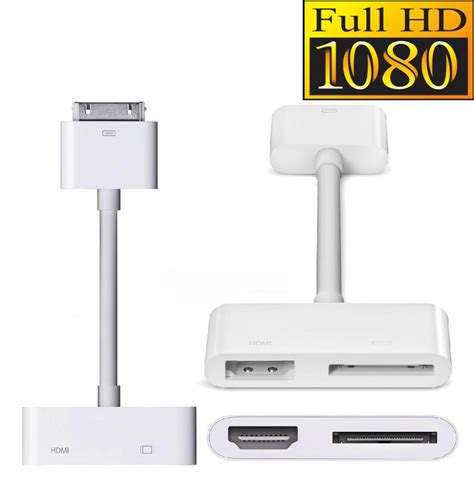 iphone to hdmi adapter buy 30 pin dock to hdmi port digital av adapter for