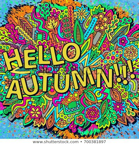 Fall Backgrounds Trendy by Psychedelic Hippie Lettering Colorful Flowersquote 스톡