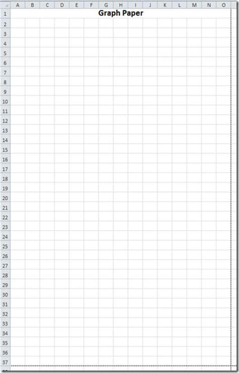 convert excel worksheet  graph paper