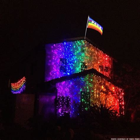 ally defies gay haters with rainbow christmas lights