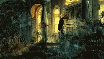 Paintings Animated Watercolor Haunted Haunting Film Painting