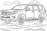 Toyota Land Cruiser Coloring Prado Pages Road Torque Plenty Around Engine sketch template
