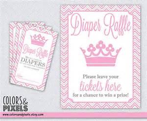 Printable Baby Shower Diaper Raffle Sign