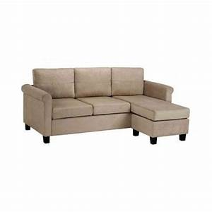 microfiber sectional sofa couch modern small spaces beige With small beige sectional sofa