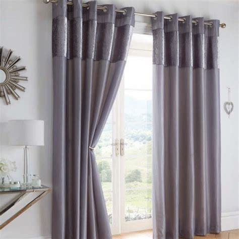 ring eyelet top curtains black grey colours