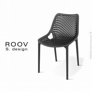 Chaise Plastique Noir : chaise pour terrasse et ext rieur roov structure plastique couleur ~ Teatrodelosmanantiales.com Idées de Décoration