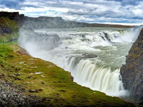 gullfoss waterfall  iceland desktop wallpaper hd