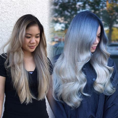 blue silver hair  kim pham beauty launchpad