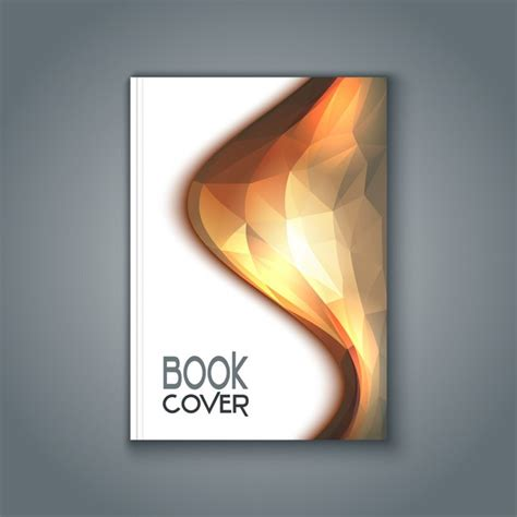 Book Cover With Polygonal Design Vector