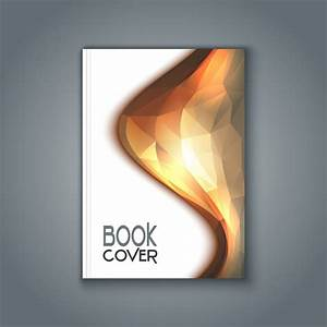 Book cover with polygonal design Vector | Free Download