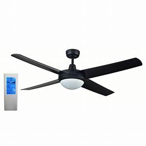 Rotor inch led ceiling fan with abs blades in black