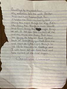 goodbye letter to addiction christina With letter from drugs to addict