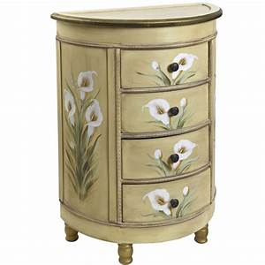 antique accessory table w calla lily floral art nearly With kitchen cabinets lowes with calla lily wall art