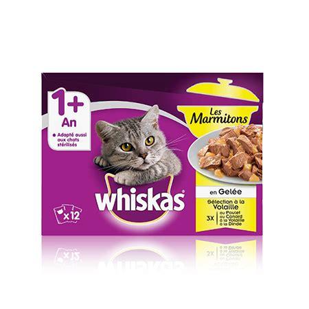whiskas sachet whiskas 1 marmiton sélection à la volaille x12 en gelée