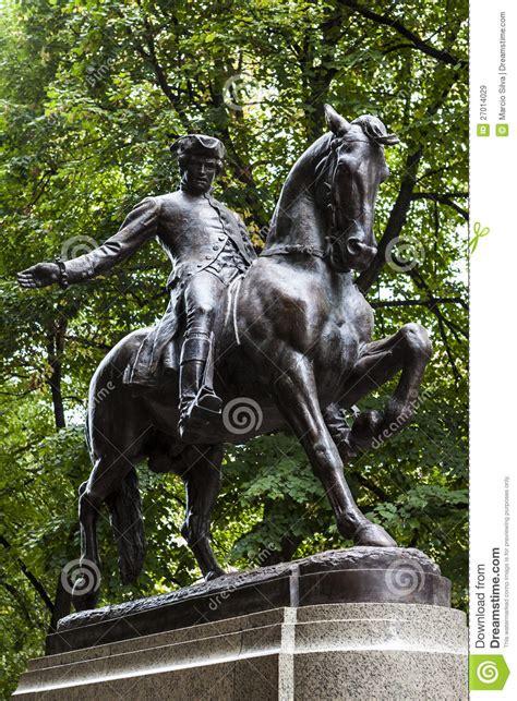 paul revere monument stock image image  boston tourism