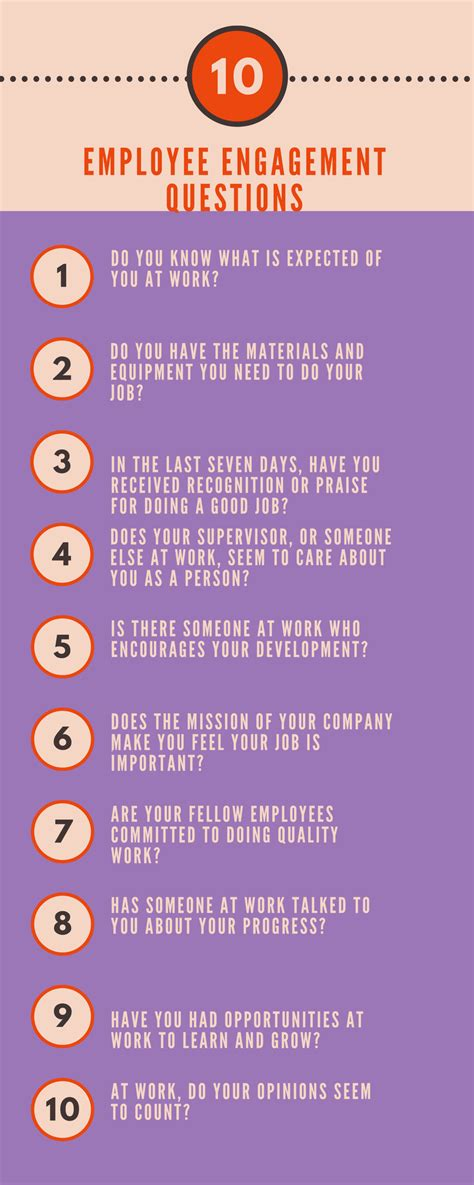 employee engagement questions     time