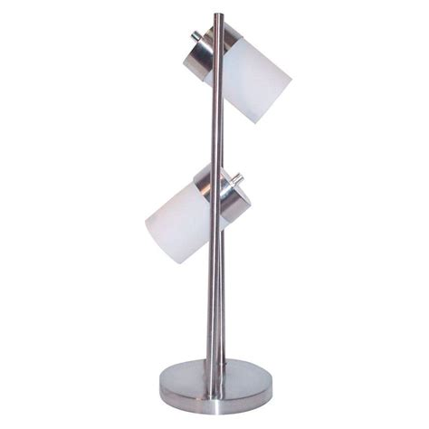 two light adjustable table l ore international 25 in 2 light white adjustable table