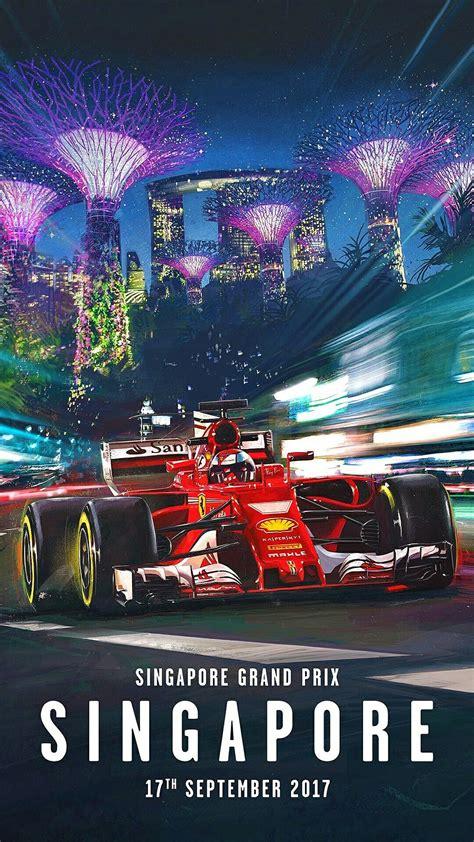 Последние твиты от scuderia ferrari (@scuderiaferrari). Scuderia Ferrari's stunning poster for the 2017 Singapore Grand Prix,   Carreras de autos, Autos ...