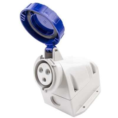 Mobile Mounting Socket 32a 2p scame 32a 2p e 230v wall mounted socket ip67 518 3253t cef
