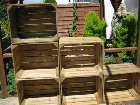 shabby apple europe 6 x vintage rustic european wooden apple crates ideal storage