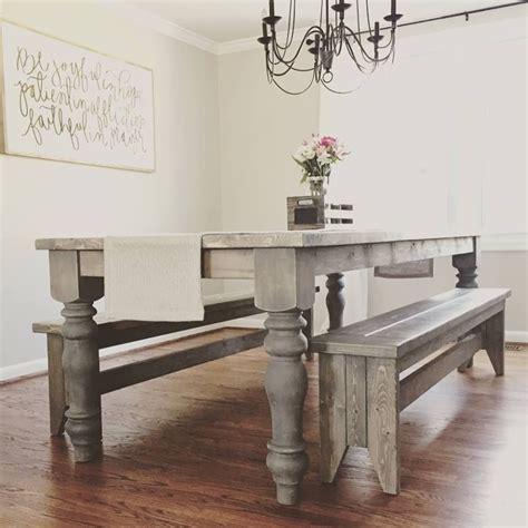 unfinished farmhouse dining table legs wood legs turned legs hardwood chunky wide legs