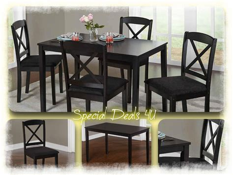 dining room set table chairs modern kitchen wood  piece