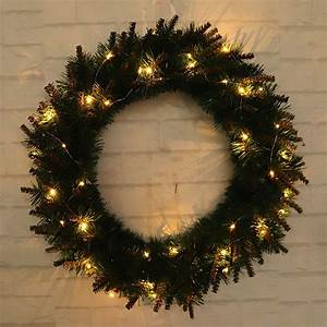 Led, Light, Christmas, Wreath, Tree, Door, Wall, Hanging, Party, Garland, Decorations