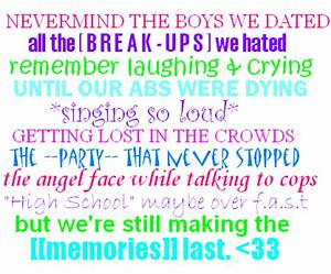 High School Memories Quotes And Sayings. QuotesGram