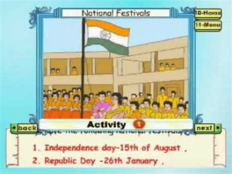 learn evs class 2 national festivals animation