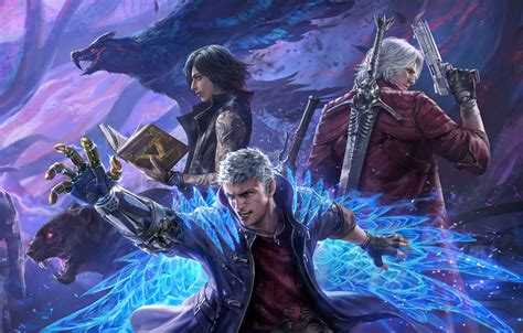 29023 views   33740 downloads. Wallpaper Dante, Capcom, Nero, Devil May Cry, Devil May Cry 5 images for desktop, section игры ...
