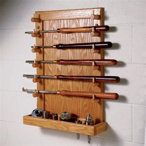 easy access lathe tool rack woodworking plan  wood