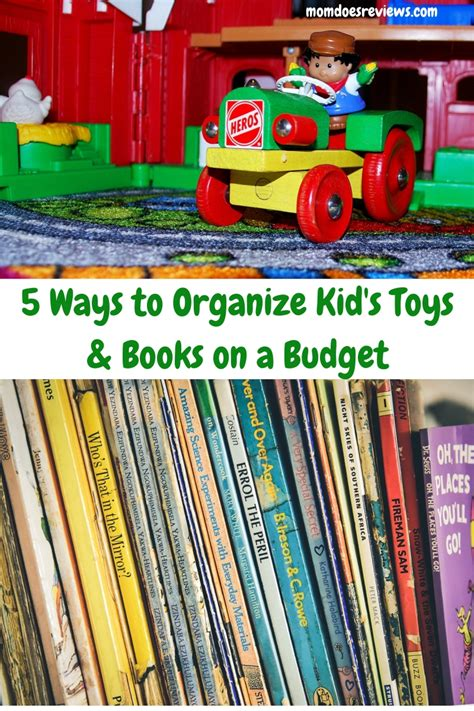 5 Ways To Organize Children's Toys And Books On A Budget