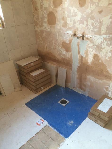 tile backer board shower tray shower ideas