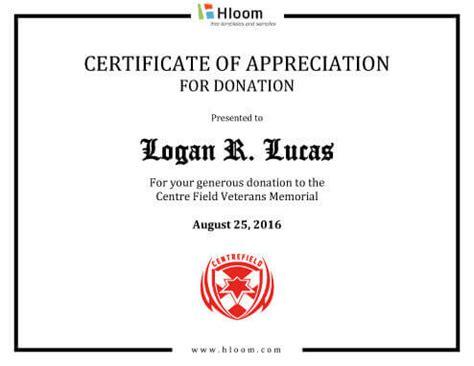 printable certificates  appreciation templates