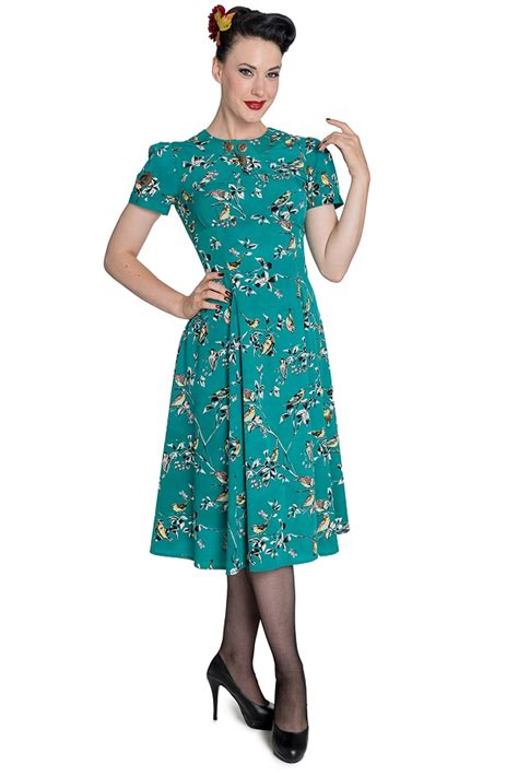 stunning   style tea dress  teal  hellbunny sizes    psdresstteal