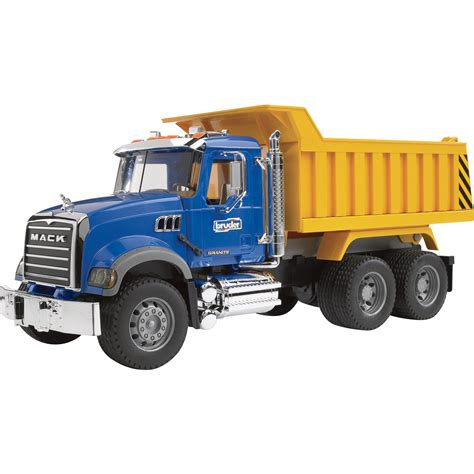 dump truck bruder mack granite dump truck 1 16 scale model 02815