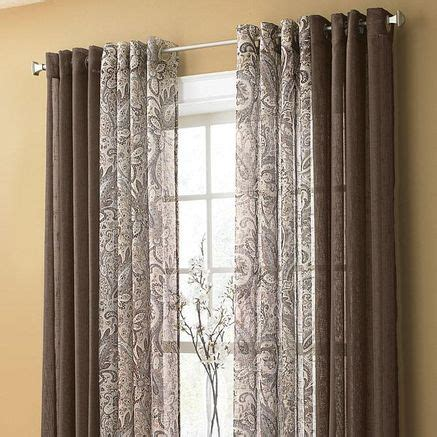 searsca sheer curtains best 25 layered curtains ideas on window