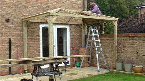 bishops stortford gazebo build  felt tile roof youtube