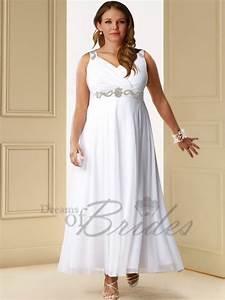 gbp179 chiffon v veck knee length cheap plus size wedding With plus size knee length wedding dresses