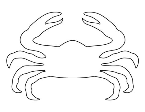 crab template crab pattern use the printable pattern for crafts creating stencils scrapbooking and more