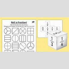 Year 2 Roll A Fraction Worksheet  Worksheet  Activities, Fractions
