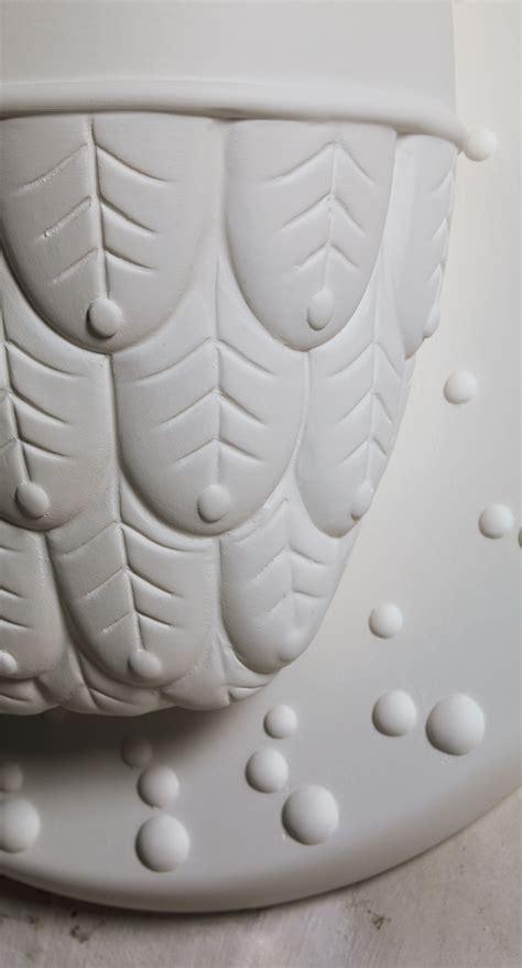 ti vedo wall light ceramic owl 216 36 h 40 cm white by