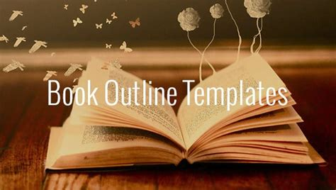 book outline template   sample  format